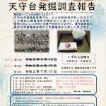 駿府城公園歴史カフェ講座「いまなら聞ける!天守台発掘調査報告」7/17(金)